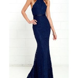 Lulu's navy blue lane maxi dress